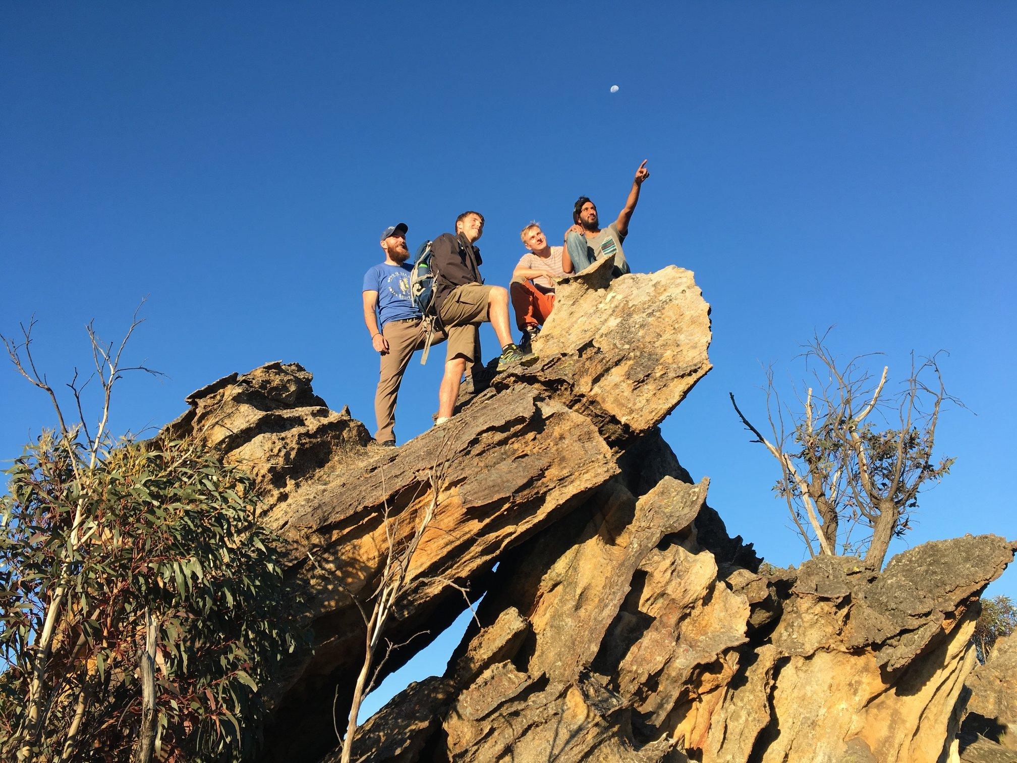 mountain climbing happy times