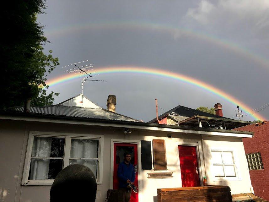 Paul and the rainbow